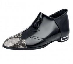 Exkluzívne kožené kotníkové topánky, čierne