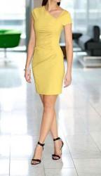 Extravagantné žlté šaty Mandarin
