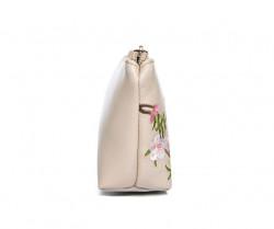 FABLE kozmetická taštička s vyšívanými kvetmi - béžová #1