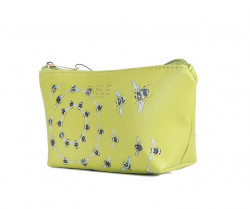FABLE kozmetická taštička s vyšívanými včelami -svetlozelená #1