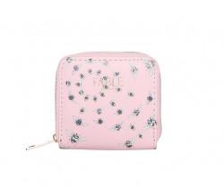 FABLE peňaženka s vyšívanými včelami - ružová