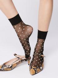 FIORE silonkové ponožky bodkované, ESTEE