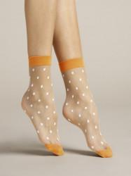 FIORE silonkové ponožky bodkované, PAPAVERO