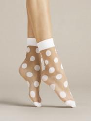 FIORE silonkové ponožky bodkované, VIRGINIA