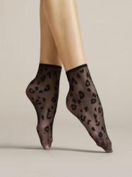 FIORE silonkové ponožky Doria, čierne