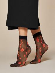 FIORE silonkové ponožky s ružami, CIAMBELLE