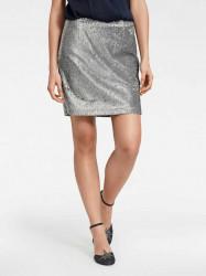 Flitrovaná sukňa, strieborná #1