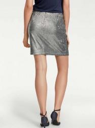 Flitrovaná sukňa, strieborná #2