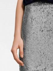 Flitrovaná sukňa, strieborná #3