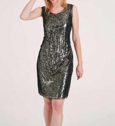 Flitrované šaty Ashley Brooke, čierno-zlatá