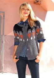 FUGA vlnený pletený sveter, šedá #2