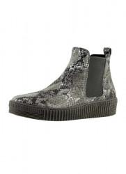 GABOR členkové topánky v haďom vzhľade, šedo-strieborná
