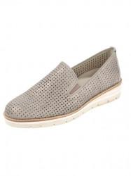 GABOR kožené slipper topánky, púdrovo-metalické