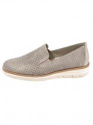 GABOR kožené slipper topánky, púdrovo-metalické #1