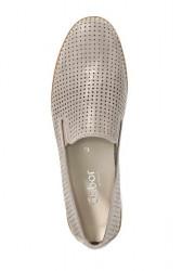 GABOR kožené slipper topánky, púdrovo-metalické #3