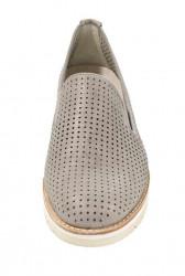 GABOR kožené slipper topánky, púdrovo-metalické #4