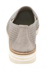 GABOR kožené slipper topánky, púdrovo-metalické #5