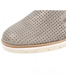 GABOR kožené slipper topánky, púdrovo-metalické #7