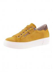 GABOR kožené sneaker z nubuku, žlto-leo
