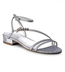 GUESS sandále, strieborná