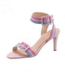 Guido Maria Kretschmer semišové sandále, ružovo-modré