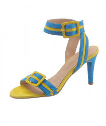 Guido Maria Kretschmer semišové sandále, tyrkysovo-žlté