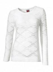 Háčkovaný biely pulóver Travel Couture
