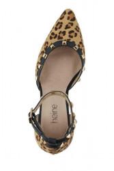 Heine lodičky s nitmi a leopardím vzorom #3