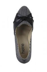 Heine lodičky s pepitovým vzorom, čierno-biele #3
