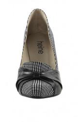 Heine lodičky s pepitovým vzorom, čierno-biele #4