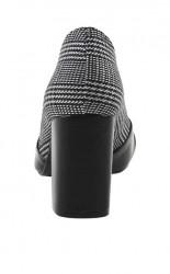 Heine lodičky s pepitovým vzorom, čierno-biele #5