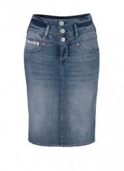HERRLICHER džínsová sukňa, modrá