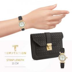 Hodinky + kabelka Temptation, čierno-zlatá #2