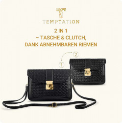 Hodinky + kabelka Temptation, čierno-zlatá #4