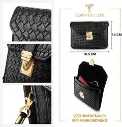 Hodinky + kabelka Temptation, čierno-zlatá #5