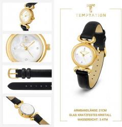 Hodinky + kabelka Temptation, čierno-zlatá #6