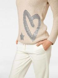 Hrubo pletený sveter HEINE, béžová