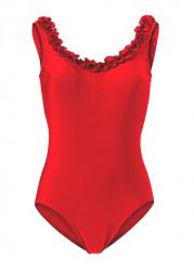 Jednodielne červené plavky Heine
