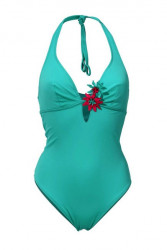Jednodielne plavky Heine, tyrkysové