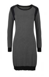 Jemne pletené šaty Tamaris, šedo-čierna