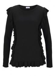 Jemnný pletený pulóver Aniston, čierny