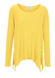 Jemný dlhý pulóver HEINE, žltá