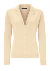 Jemný pletený sveter s kašmírom, vanilkový
