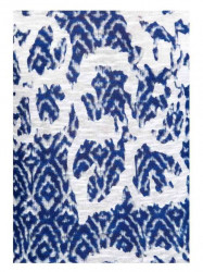 Jemný pulóver s potlačou, modro-biely #1