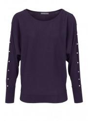 Jemný sveter HEINE s perlami, fialová