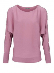 Jemný sveter HEINE s perlami, ružová