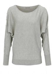 Jemný sveter HEINE s perlami, sivá