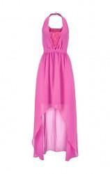Jessica Simpson šifónové šaty, ružová #1