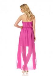Jessica Simpson šifónové šaty, ružová #3