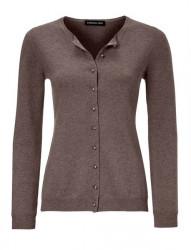 Kašmírový sveter PATRIZIA DINI, hnedo-šedá